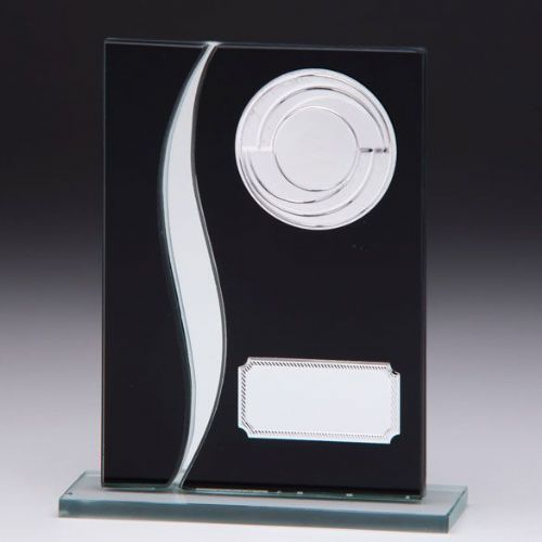 Spirit Multisport Mirror Glass Award Black & Silver 125mm
